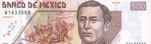 Der mexikanische 500 Pesos Geldschein