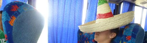 Ich beim Siesta machen im Bus